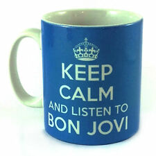 KEEP CALM AND LISTEN TO BON JOVI MUG CARRY À FAIBLE TEMPÉRATURE BRITANNIA RÉTRO