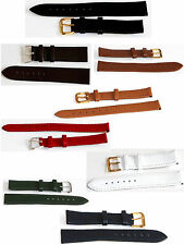 Genuine Leather Watch Strap Wrist Band Strap Replacement 10/12/14/16/18/20/22 mm