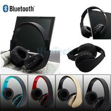 Wireless Bluetooth Headset Stereo Headphone Earphones With Mic For iPhone L