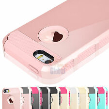 Hybrid Armor Rugged Rubber Silicone Hard Cover Case for Apple iPhone 5 5s S