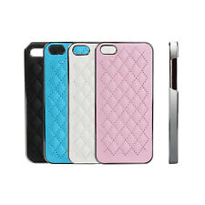 NEW Luxury Soft Synthetic Leather Hard Case Cover For Apple iPhone 5 5S
