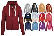 Womens Plus Size Hoodie Hooded Zipper Top SweatShirt Jacket Sweater 16 18 20 22