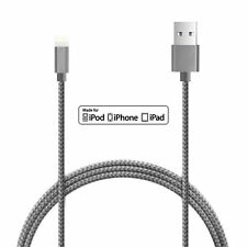 2m High Quality Metal Knit Weave Braid Lightning Data Cable for iPhone 6 6s Plus