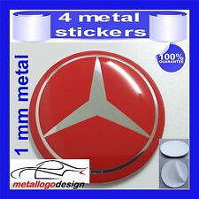 METAL STICKERS WHEELS HUB CENTER CAPS Centro LLantas 4pcs MERCEDES 14