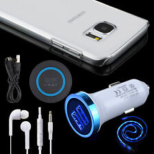 5 Kit QI Wireless Pad Car Charger Cable Headset Case For Samsung Galaxy S7/