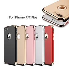 3 in 1 Plating Slim Hybrid Hard Plastic PC Case Cover For iPhone 7/7 Plus F