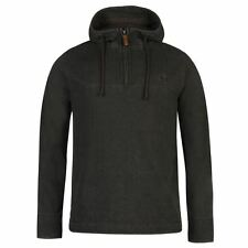 Mens Branded Ocean Pacific Stylish Quarter Zip Pique Hooded Sweater Top