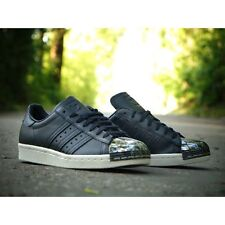 ADIDAS SUPERSTAR 80'S BLACK LEATHER AQ2367 BRAND NEW BOXED UK SIZES 4, 5, 6, 6.5