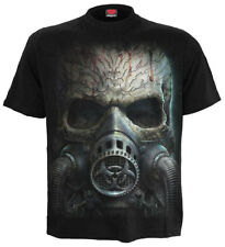 Spiral Bio-Skull, T-Shirt Black|Skulls|Fetish|Horror|SteamPunk