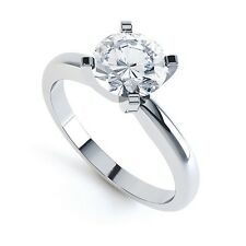 18ct Round Brilliant Cut Diamond Solitaire Ring - Traditional