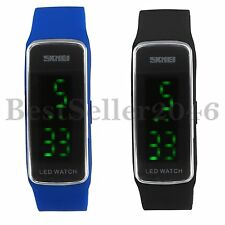Lässig Digital Silikon LED Armband Uhr Armbanduhr Watch Herren Damen Kinder Neu