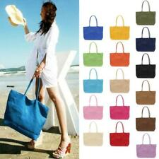 Women Lady Casual Straw Shoulder Bag Purse Beach Messenger Satchel Tote Handbag