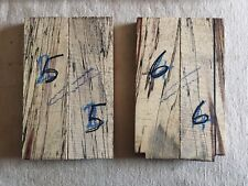 Spalted tamarind bookmatched knife scale / knife handle sets