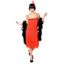 Ladies Jazzy Flapper Red Costume Charlston 20s 30s Moll Boop Ragtime Fancy Dress