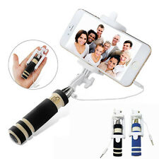 Mini Extendable Handheld Wired Remote Shutter Selfie Stick For iPhone Samsu