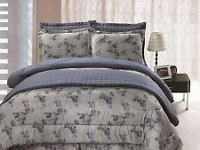6pc Comforter & Quilt Set Reversible Floral Print Full Queen King