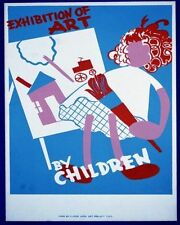 EXHIBITION OF ART BY CHILDREN 2 WPA POSTER ART PRINT