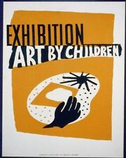 EXHIBITION OF ART BY CHILDREN WPA POSTER ART PRINT