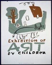 EXHIBITION OF CHILDREN BY ART 3 WPA POSTER ART PRINT