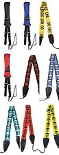 Johnny Brook Fashion Design Nylon Guitar Strap Quick Release and Leather Ends