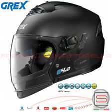 Casco Jet Integrale Crossover Grex Flat Black Nero Opaco G4.2 Pro Kinetic N-Com