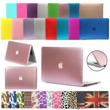 "Clear Hard Shell Case+Keyboard Cover MacBook Air 11"" Pro 15"" Silicone TE"