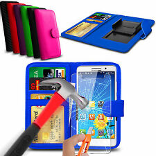 para Blackview Zeta - con clip cuero artificial Libro Cartera Funda & Cristal