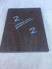 Wenge bookmatched knife scale / knife handle / razor scale sets