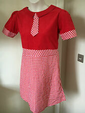 10,12,14 Run & Fly Retro Dress 60s/Mod/Mary Quant/Scooter,/Skater, Gingham  /B10