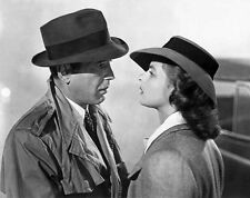 Casablanca Man and Woman wearing Trench Coat with Hat High Quality Photo