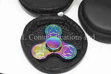 UK Premium Fidget Spinner Finger Hand Spinner Rainbow/Petrol Luxury Heavy Weight