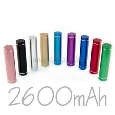 Power Bank 2600 mAh USB Akku Micro USB Adapter Powerbank 2600mAh Farben Metallic