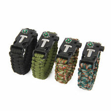 Outdoor Self-rescue Parachute Cord Bracelets Compass Survival Camping Travel KF