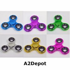 FIDGET SPINNER ALUMINUM METAL ALLOY TOY HAND TRI EDC USA SPINNERS TRIANGLE
