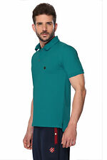 ONN Men's Casual Cotton Half Sleeves Polo T-Shirt (ONN_NC431_Peacock Blue)