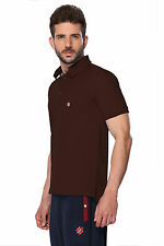 ONN Men's Casual Cotton Half Sleeves Polo T-Shirt (ONN_NC431_Coffee)