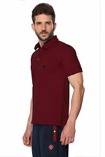 ONN Men's Casual Cotton Half Sleeves Polo T-Shirt (ONN_NC431_Maroon)