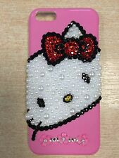 Swarovski crystal pearl customised hello kitty iphone case bling hard cover