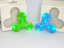 UK NEW L.E.D Light Up & Bluetooth Speaker Fidget Spinner Hand Spinner USB Charge