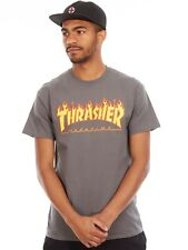 Thrasher Charcoal Flame Logo T-Shirt