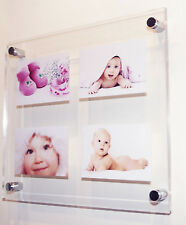 """Perspex acrylic plexiglass multi picture photo frame for 4x10x8""""/10x7"""" all color"""