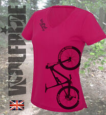 Ladies cycling, mountain bike, DH, mtb short sleeve Wolfride top, wicking jersey
