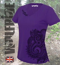 Womens running - hiking, gym performance top - paisley print, technical, wicking
