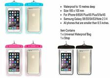 Iphone 6 6plus phone cases waterproof pouch bag tempered glass screen protector
