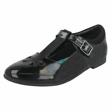 SALE BOOTLEG BY CLARKS SELSEY PLAY GIRLS T-BAR BUCKLE LEATHER SMART SCHOOL SHOES