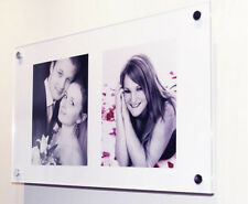 """Cheshire Acrylic picture  9 x 7"""" 10 x 7 or 10 x 8"""" multi photo frame all colour"""