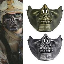 Skull Skeleton Airsoft Paintball Half Face Protect Mask For Halloween