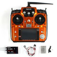 RadioLink AT10 II RC Transmitter 2.4G 10CH with R12DS Receiver for RC Airplane