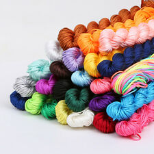 1 pc Nylon Cord Thread Chinese Knot Macrame Rattail 1mm*24M Shamballa Rope (246)