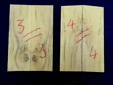 English boxwood bookmatched knife scale / knife handle sets